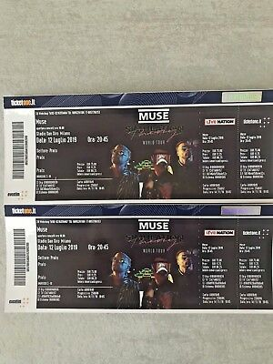 2 Biglietti Concerto Muse Prato San Siro 12/07/2019 Sold Out