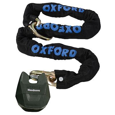 Oxford Hardcore XL LK153 Thatcham Approved 1.5m x 12mm Loop Chain And Padlock