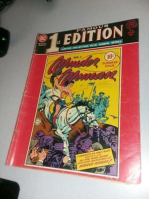 1975 DC Treasury F-6 Famous 1st Edition WONDER WOMAN #1 giant size collectors