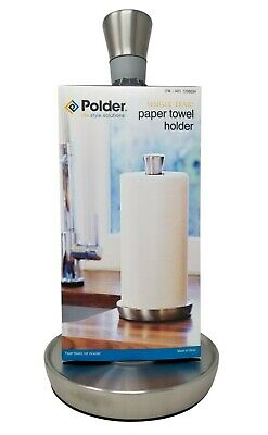 Steel with weighted Base NEW N//B Polder SingleTear Paper Towel Holder Brushed S