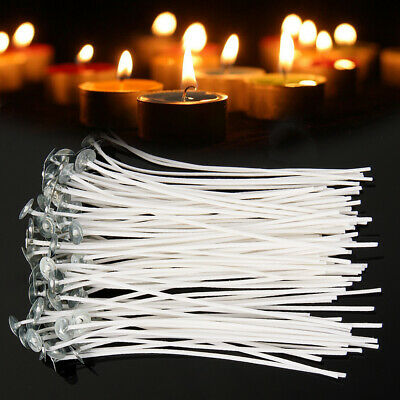 100 x 150mm-15cm Pre Waxed Wicks For Candle Making With Sustainers