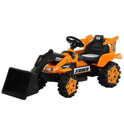 Lenoxx 6V Electric Ride On Front Loader Tractor Kids Toy /Digger/Farm 4y+ Orange