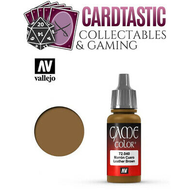 Vallejo Game Color Paint 17mL Leather Brown 72.040