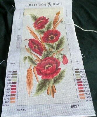 TAPESTRY CANVAS Bouquet of Poppies 18x24cm 1298F