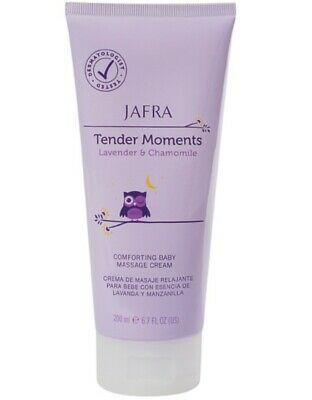 Jafra Tender Moments Lavender & Chamomile Comforting Baby Massage Cream 6.7 OZ