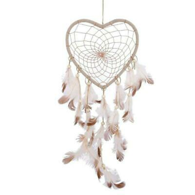 Heart Shaped Dream Catcher Hanging Feather Ornament Auto Pendant Bohemian Style