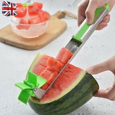 Watermelon Slicer Cutter Tongs Corer Fruit Melon Stainless Steel Kitchen Tools