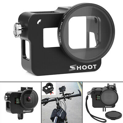 Protective Camera Cage Housing Case 52MM UV Lens Filter For GoPro Hero 7/6/5