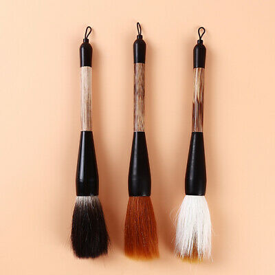 Brushes Pen Chinese Calligraphy Wolf Hair Bamboo Pole Handle Writing Painting 8C