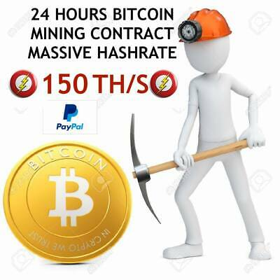 !!!MASSIVE HASHRATE!!! 150 TH/s - BTC - ₿  Cloud mining - 24 HOURS CONTRACT