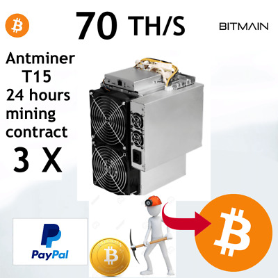 3X Antminer T15 70TH/s - BTC - ₿  Cloud mining - 24 HOURS CONTRACT RENT