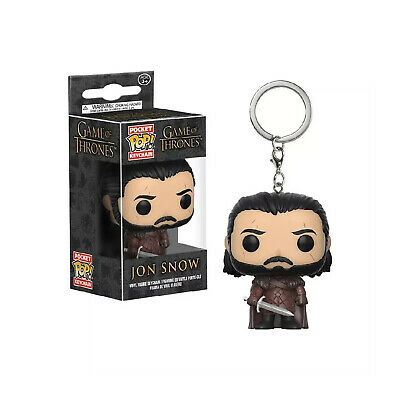 Game of Thrones Jon Snow Keychain John Snow FUNKO POP Key Ring Fob Chain