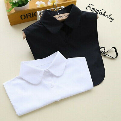 Women Detachable Elegant Dickey Blouse Shirt Cotton Fake False Choker Collar