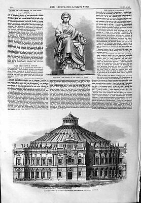 Old Antique Print 1859 Statue Liberty Press Circus Equestrian Performance 19th