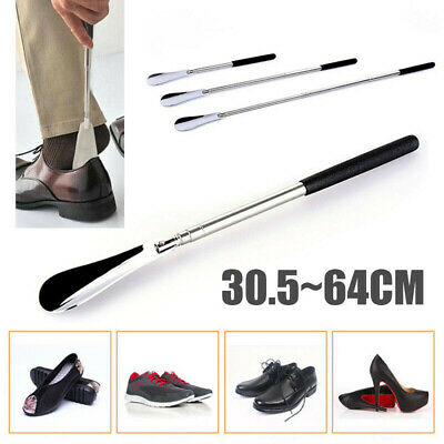 "Pro 25"" Long Adjustable Handle Shoe Stainless Steel Metal Shoehorn"