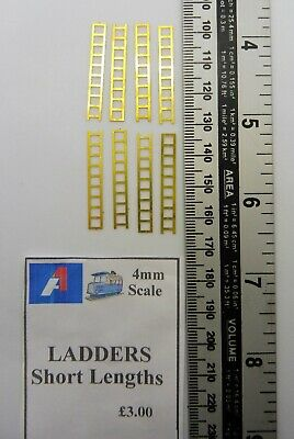 4mm  SCALE LADDERS - 8 Ladders in pack.