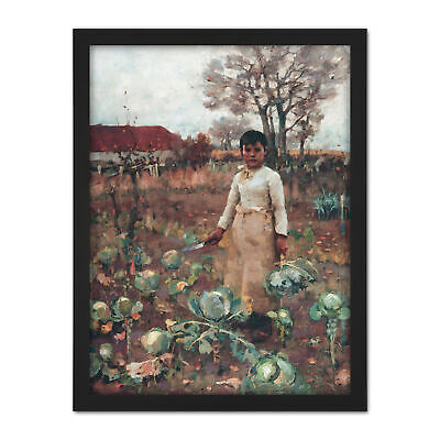 Guthrie Hind's Daughter Scottish Realism Painting Large Framed Art Print