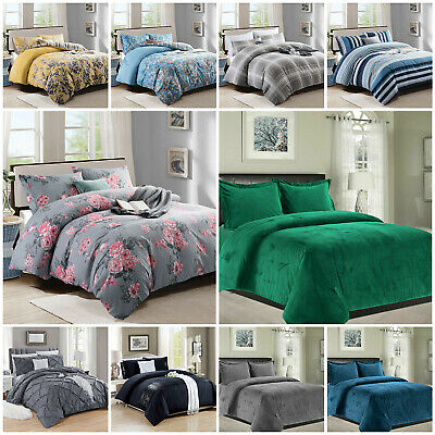 New Bedding Set With Duvet Cover & Pillow Cases King Size Quilt Cover Best Price