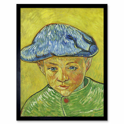 Van Gogh Portrait Camille Roulin Painting Framed Wall Art Poster