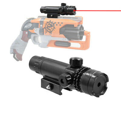 Tactical Red Laser Sight Pointer Weaver Mount for Nerf Blaster MOD Modify Toy