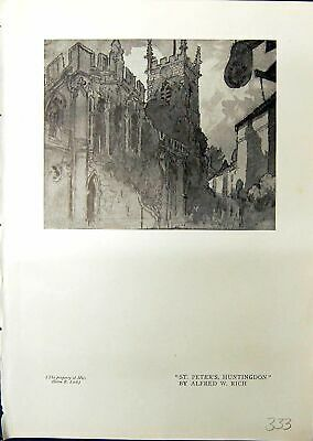 Old St. Peter'S Huntingdon Alfred Rich Architecture English Park 1914 20th