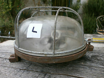 Vintage Bulkhead Industrial loft wall ceiling light lamp French iron factory. L