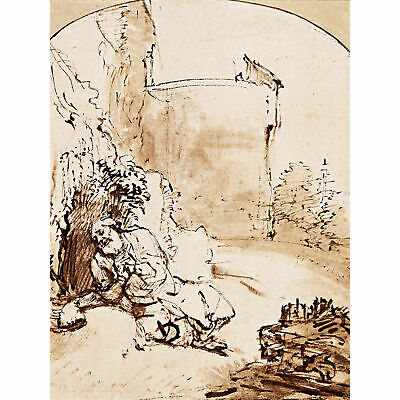 Rembrandt The Prophet Jonah Before The Walls Of Nineveh Extra Large Art Poster