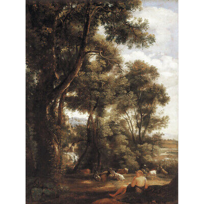 John Constable Landscape With Goatherd And Goats Canvas Art Print Poster