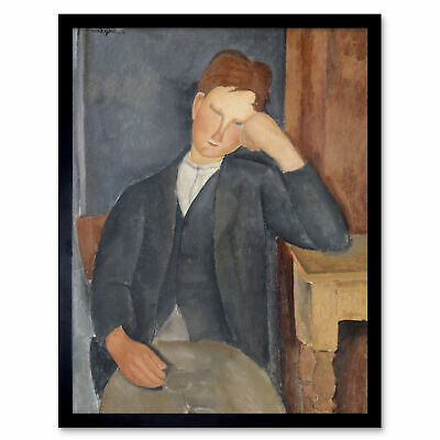 Amedeo Modigliani The Young Apprentice Art Print Framed 12x16
