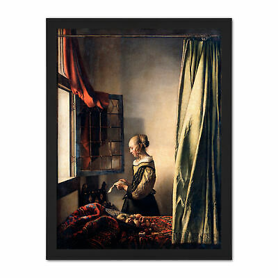 Johannes Vermeer Girl Reading A Letter By An Open Window Large Framed Art Print