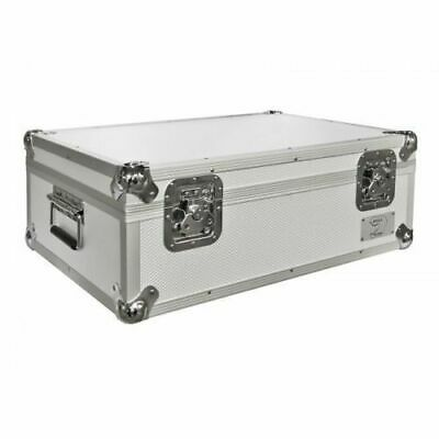 "Flight Case Silver Neo 7"" single 500 Vinyl Record Box Aluminium DJ Carry Case"
