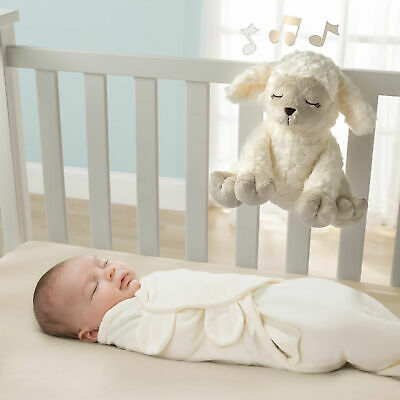 New Summer Infant Lamb Slumber Melodies Toy Comforter With 6 Lu