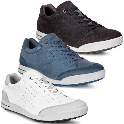 Ecco Mens Golf Street Retro Leather Spikeless Waterproof Lace Shoes