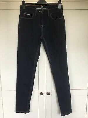 Ladies Next Jeans Size 10L Long Denim Blue Trousers Slim Leg Skinny Iconic Style