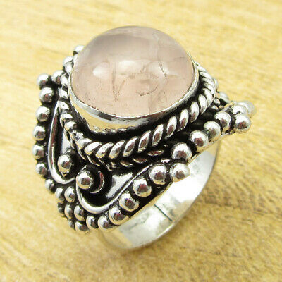 925 Silver Plated Amazing Rose Quartz STUNNING Ring Size 8 ! Factory Direct NEW