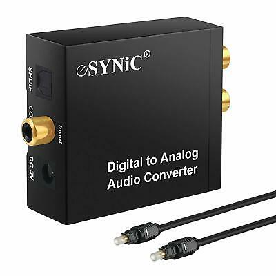 Convertitore Adattatore Audio coassiale, Digitale ad Analogico Stereo RCA L/R