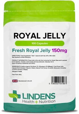 Royal Jelly 150mg 100 Capsules Lindens Health + Nutrition Ltd (1967)