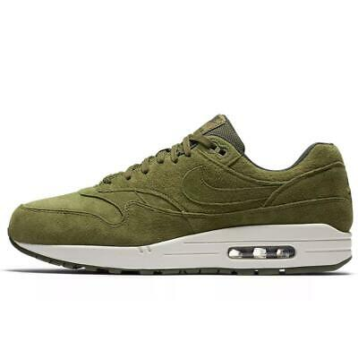 save off b48a3 14705 Nike Mens Air Max 1 Premium Olive Green Trainers 875844 301