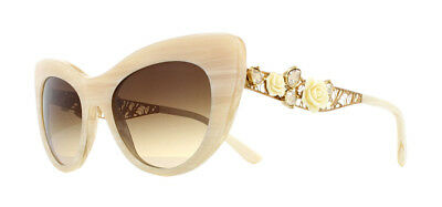 ae57bdd78ebe Dolce   Gabbana DG4302B Sunglasses White Horn 308413 Brown Gradient 50mm