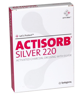 Actisorb Silver 220 Activated Charcoal Dressing 19cm x 10.5cm Box of 10 dressing