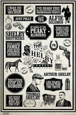 Peaky Blinders Poster Infographic 61 x 91.5cm