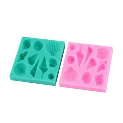 Silicone 3D Seashell Beach Shells Cake Molds Chocolate Mould Decoration JL