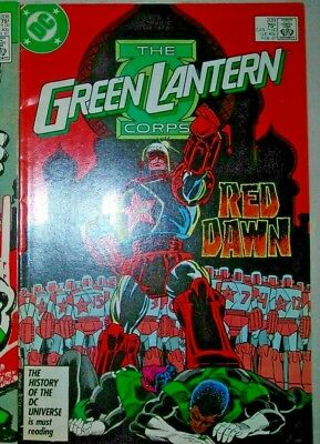 GREEN LANTERN CORPS 209 DC Comic FEBRUARY 1987 RED DAWN STATON FVF MORE LISTED