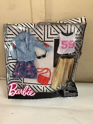 Barbie Doll Clothing  2 Outfits Purse and Glasses New Package Damage