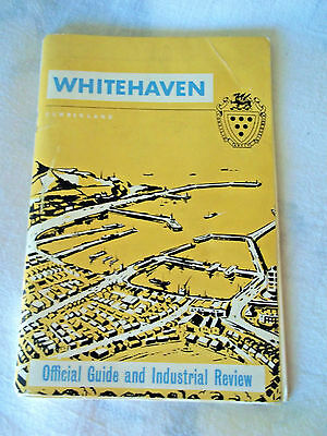 Vintage Whitehaven Cumberland UK map guide book, many ads photos maps 1950's?