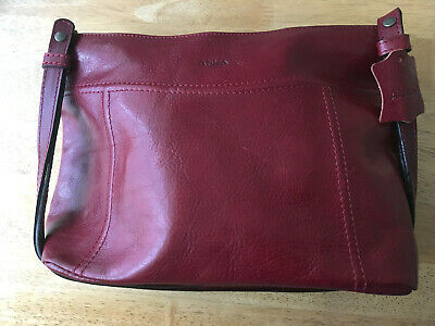 leather handbag (burgundy)