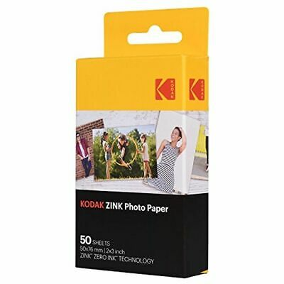 "Kodak 2x3"" Sticky-Backed ZINK Photo Paper 50 Sheets Compatible With Printomatic"