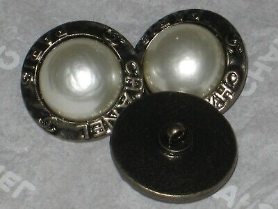 Chanel 2 Bronze  Metal Light Color Pearl    Buttons  18  Mm/ 3/4''   New Lot 2