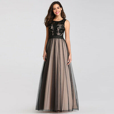 Ever-Pretty US Formal Mesh Lace Women Homecoming Dress Long Party Gowns 07788