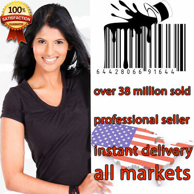 1000 UPC Numbers Barcodes Bar Code GS1-approved EAN Amazon Lifetime one time buy